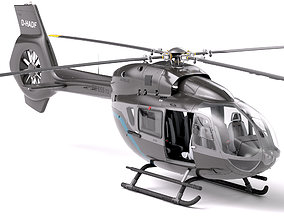 Business Civil Modern Helicopter Airbus H145 3D