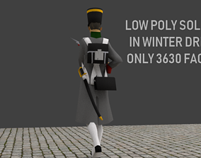 3D asset Napoleonic soldier with Winter Coat