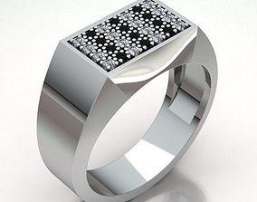 gemstone 3D print model Ring Man