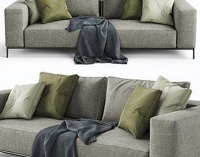 cloth 3D model Flexform Sofa Ettore
