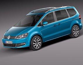 3D model Volkswagen Sharan 2016