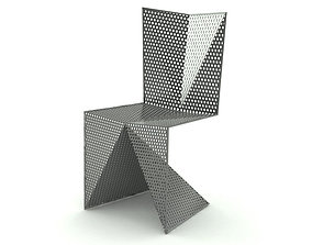 3D Contemporary Steel Chair