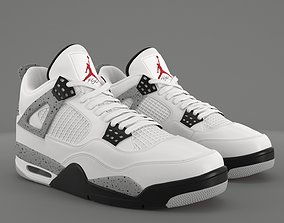 Air Jordan 4 Retro Cement PBR 3D asset