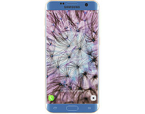 Galaxy S7 Edge Blue Gold 3D