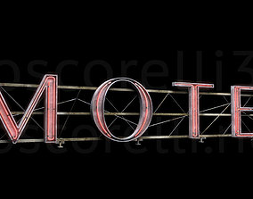 3D model Rooftop Neon Motel Sign