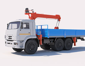 Load Handling Crane KAMAZ KMU Kanglim KS-1256 G2 3D model