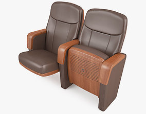 Contemporary Auditorium Seating Chair 3D model