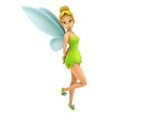Fairy Tinkerbell Rigged Elf 3D model