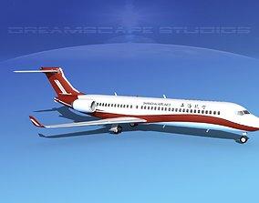 3D model Comac ARJ21-700 Shanghai Airlines