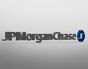 Jp morgan chase logo character 3D