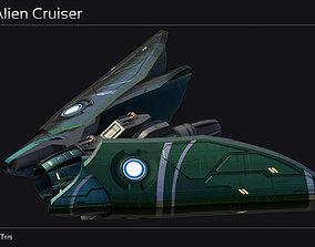 Ankla Alien Cruiser 3D asset