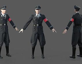 GERMAN SS OFFICER 3D PBR
