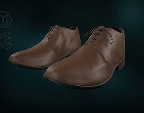 Brown Leather Shoes 3D asset