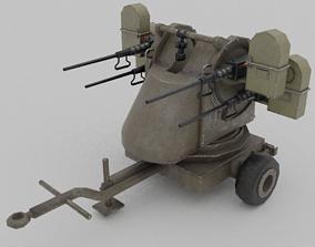 VR / AR ready M45 Quadmount meat chopper AA Gun Lowpoly 3D