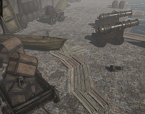 3D model Props for the medieval harbour