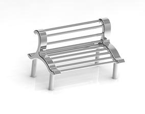 3D printable model Park Seating Bench