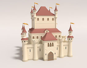 Cartoon Medieval Castle 3D architecture