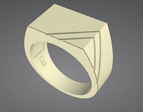 silver Signet Ring 3D printable model