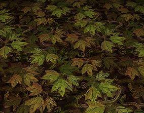 3D ground leaf tile 14
