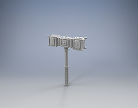 Warhammer of the Dwarven King of Iron 3D printable model