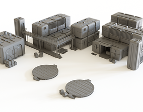 3D print model Sci fi Colony Modules Collection for 1