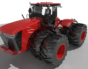 3D model Scraper Tractor Wheeled