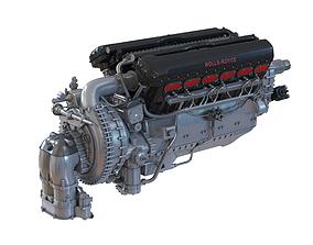 Piston Aero Engine Rolls Royce Merlin 3D model