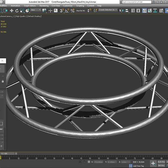 Circle Triangular Truss (Full diameter 150cm)