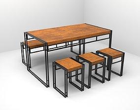 3D asset SOMBILGE DINING SET