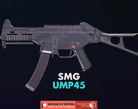 3D asset Weapon - Gun - SMG - UMP45