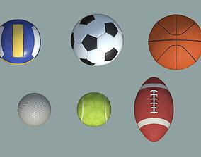 Balls Pack 3D asset