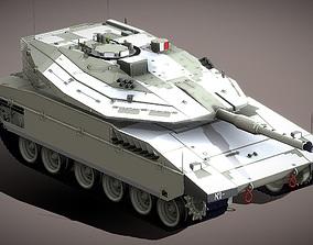 low-poly Main Battle Tank Merkava Mk4 3D Model