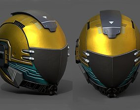 3D model Helmet scifi fantasy space cyborg robot armor 1