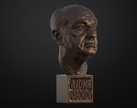 3D Printable Bust of Vladimir Nabokov