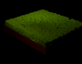Grass model 3D asset low-poly