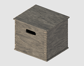 transport Wooden Box 3D model game-ready PBR