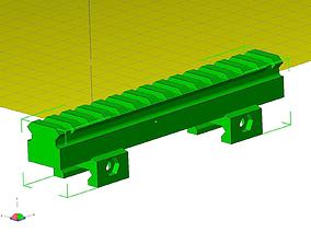 3D print model picatinny riser mount