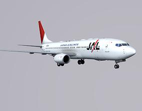 3D model Boieng 737-800 Japan Airlines