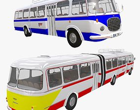 3D Historical buses