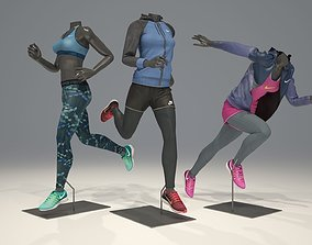 3D Woman mannequin Nike pack 4