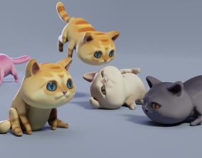 Cat low-poly 3D model