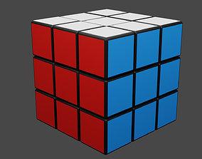 3D model rigged Rubiks Cube