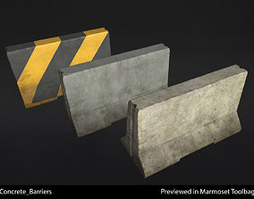 3D model Concrete Barrier - In-Game Ready