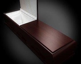 Classic Wood Coffin 1 3D