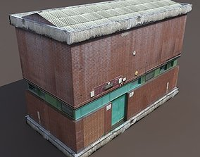 Factory Low poly 128 3D model