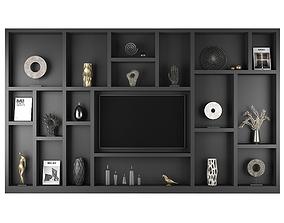 TV Shelf Furniture 71 3D vase