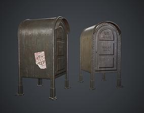 3D model Post Box PBR Game Ready send
