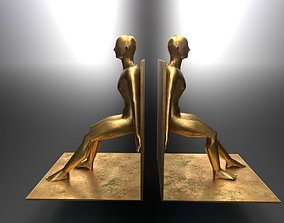 Bronze Bookends 3D