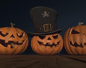 Halloween Pumpkins 3D asset