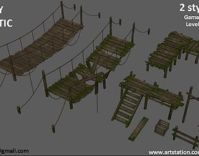 Lowpoly Wooden Models low-poly